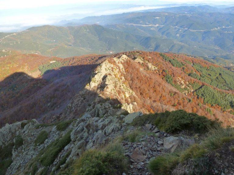 Tres pics del Montseny. Agudes (1705 m), Turò de l'Home (1708 m), Matagalls (1689 m)