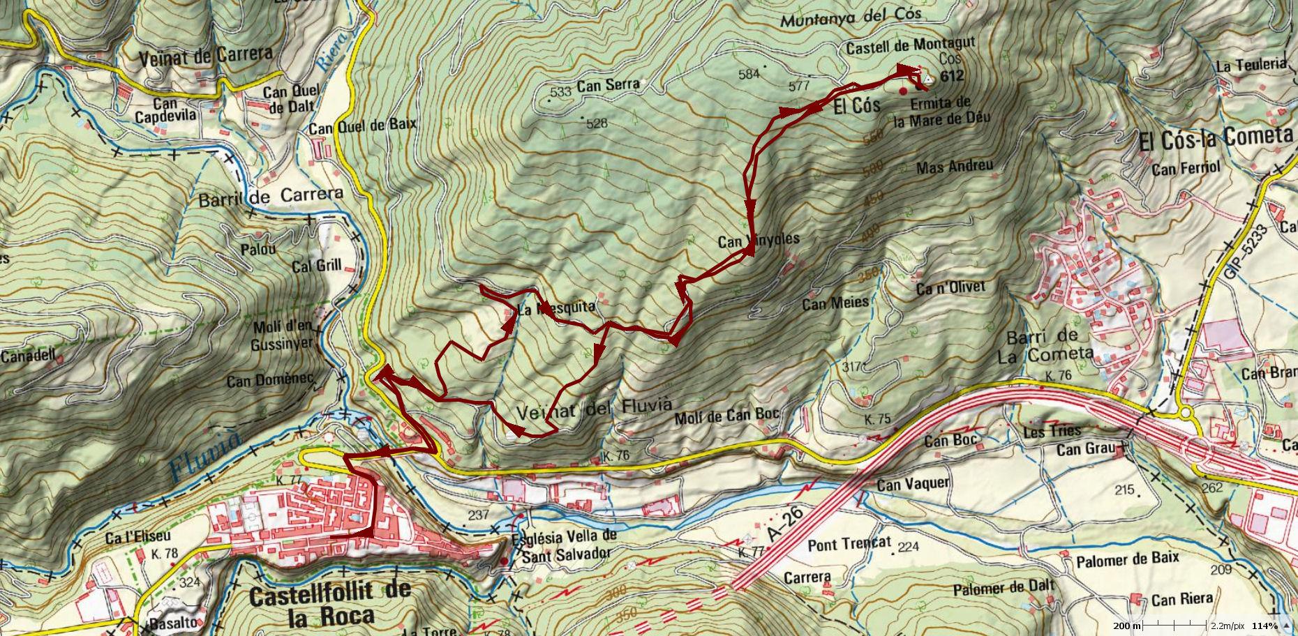 CASTELLFOLLIT-CASTELL-DE-MONTAGUT-MAP