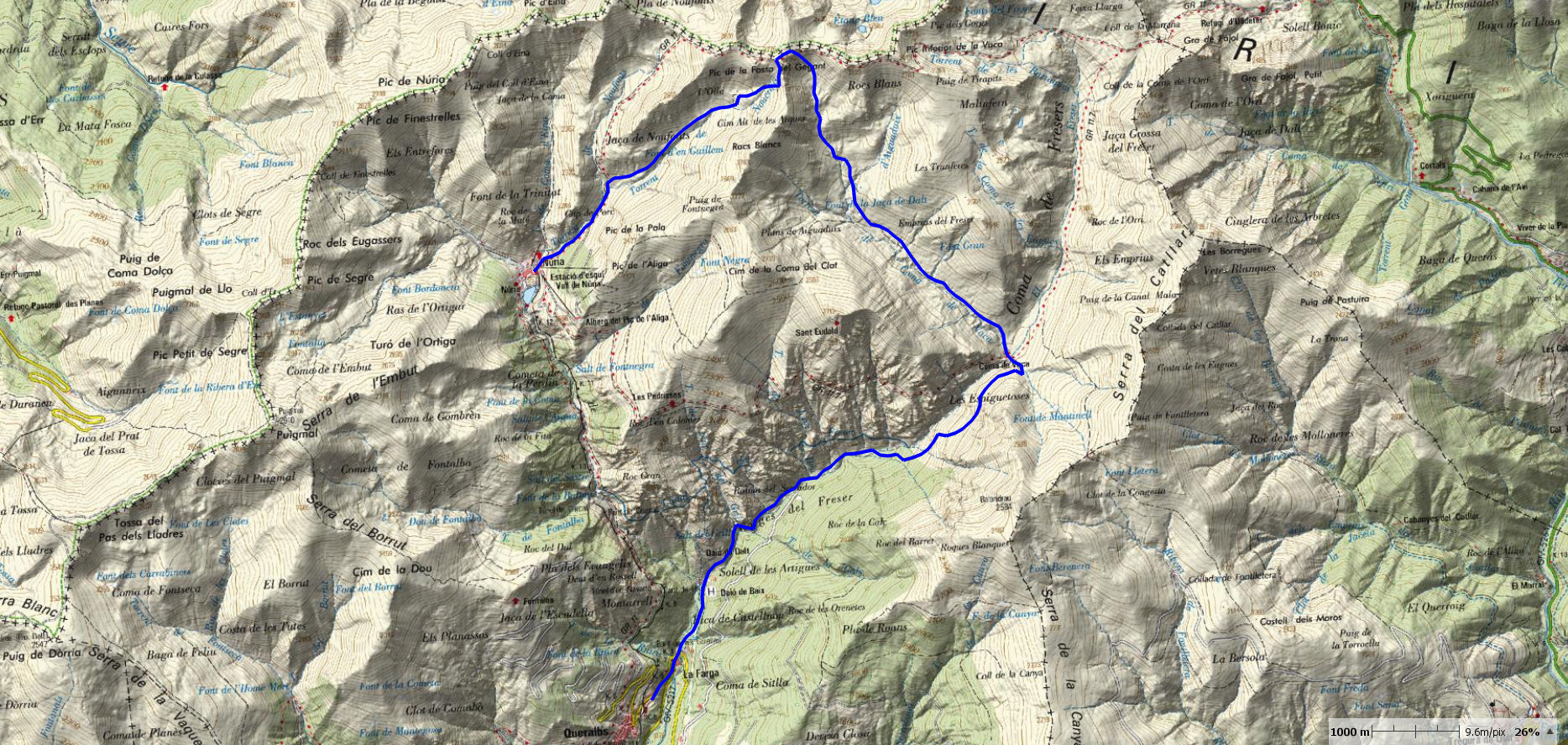 QUERALBS-VACA-NURIA-MAP