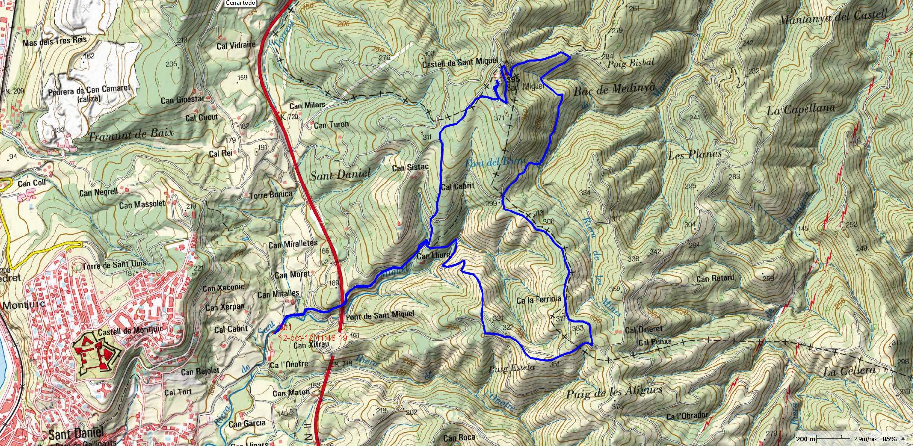 sant-daniel-castell-sant-miquel-map