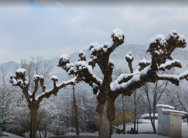 La vall de Bianya bajo la nieve. 26/01/2017