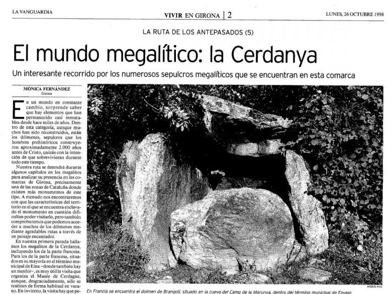 El mundo megalítico: la Cerdanya